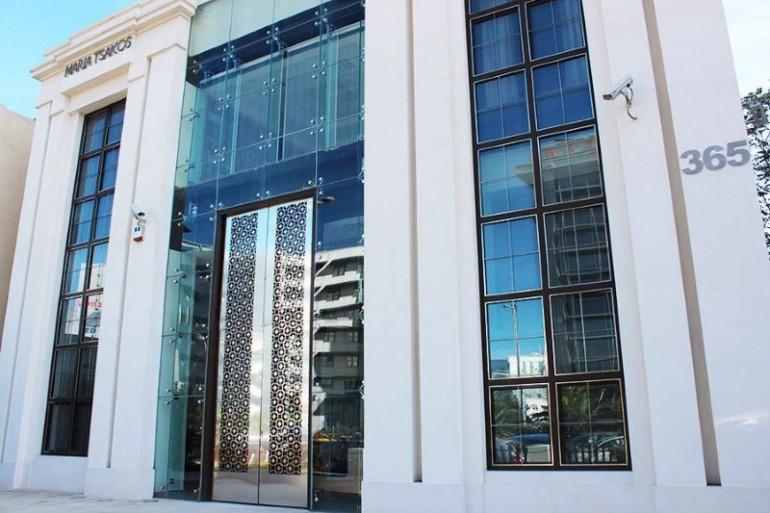 oversize glass door