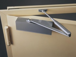 Hinges for the control of door equipped with door closer
