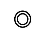 Concentricità simbolo meccanico